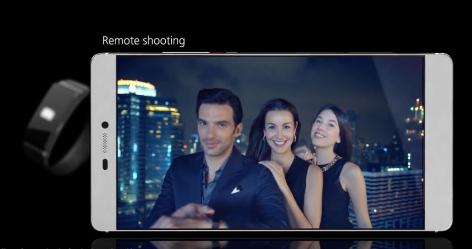 La cámara del P9 de Huawei, permite el disparo remoto. (Imagen: Captura de YouTube)