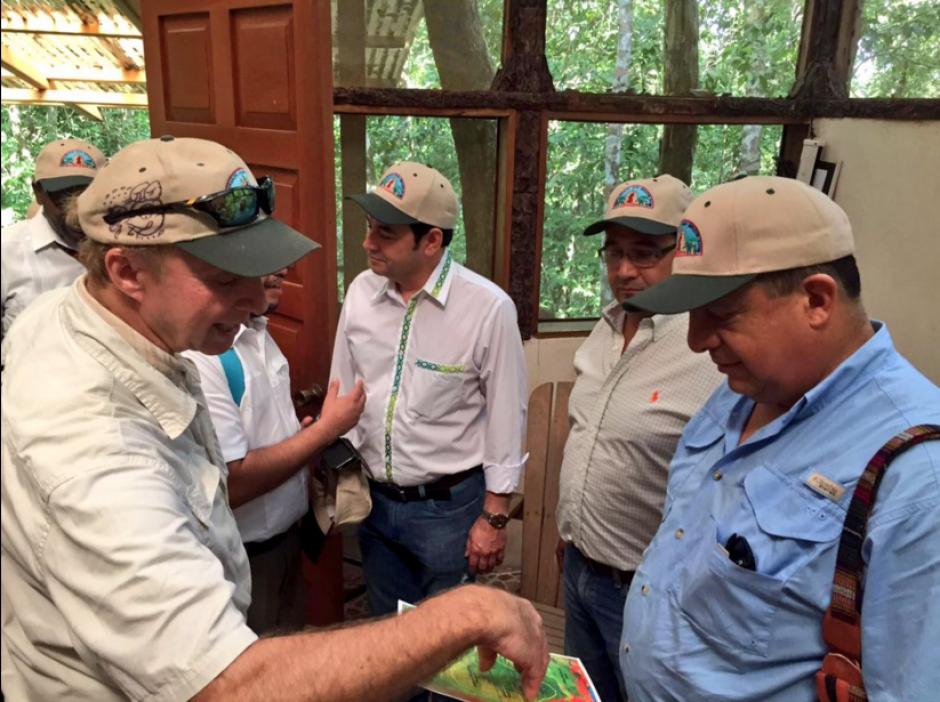 El presidente de Costa Rica, Luis Guillermo Solís visitó El Mirador, en Petén. (Foto: Presidencia Guatemala)