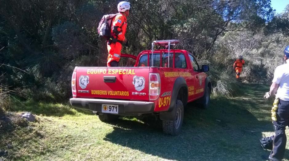 La patrulla de rescate acudió a las faldas del volcán. (Foto: Bomberos Voluntarios)
