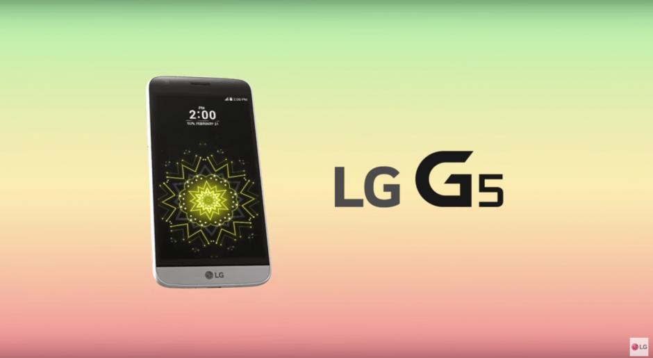 En el G5, LG introduce un lector de huella digital para el encendido del dispositivo. (Imagen: Captura de YouTube)