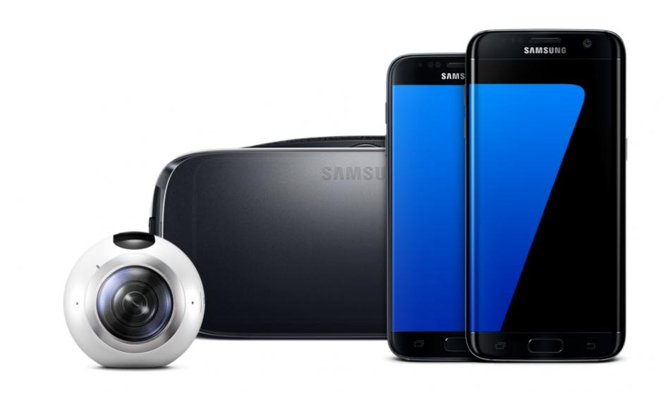 Los dispositivos de Samsung son compatibles con los sistemas Gear 360 y Gear VR. Imagen: Samsung)