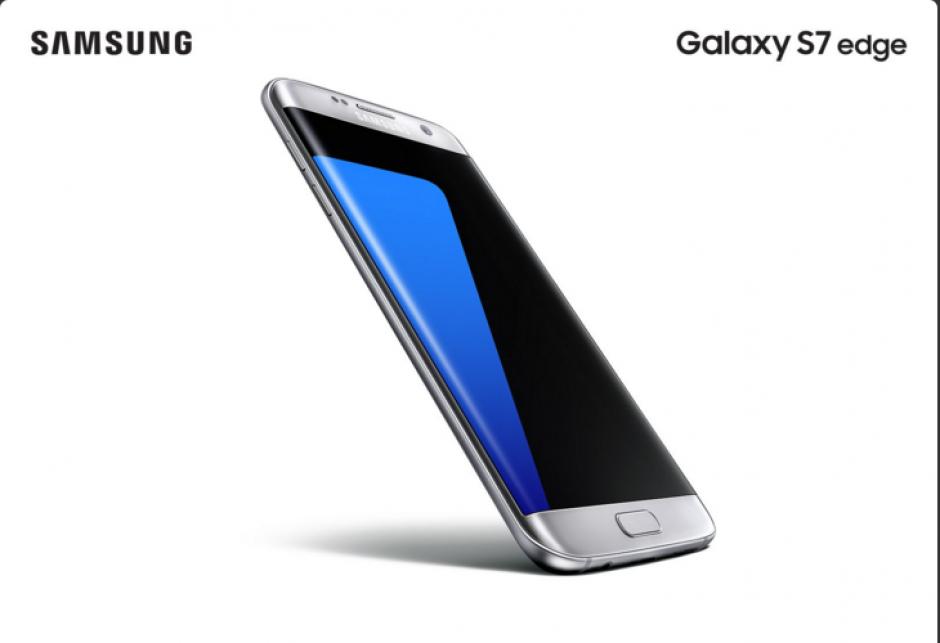 El S7 Edge, cuenta con una pantalla de 5.5 pulgadas. (Imagen: Samsung)