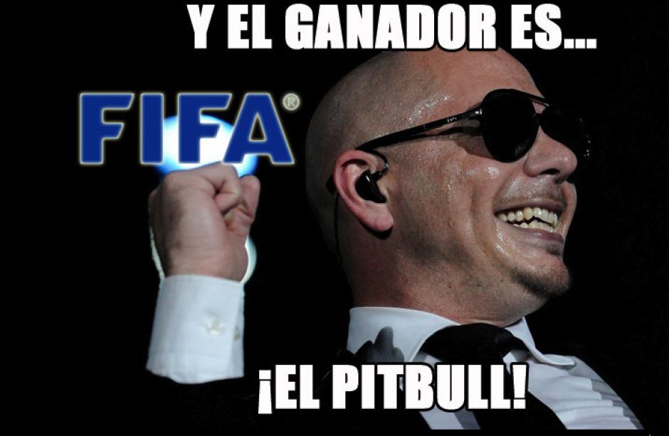 El nuevo presidente de la FIFA es comparado con Pitbull debido a su calvicie. (Imagen: mexico.as.com)
