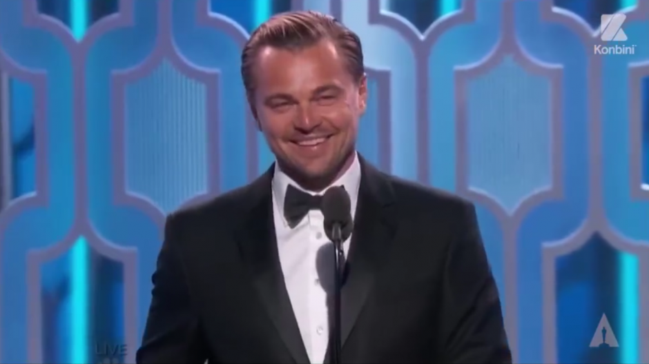 El momento en que el actor se entera que ha ganado un Óscar. (Foto: Video Facebook)
