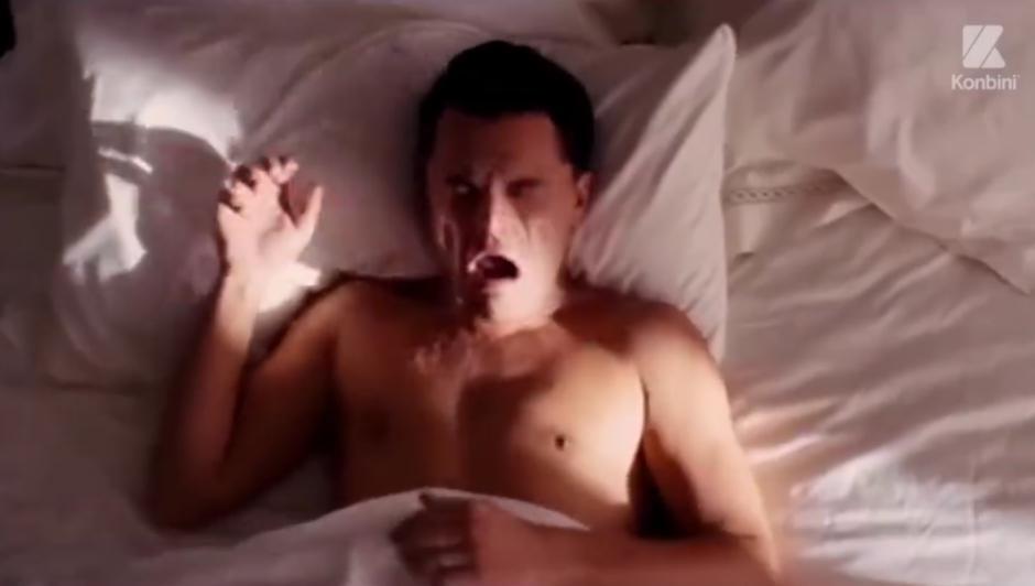 El actor despierta y se da cuenta que no gano nada. (Foto: Video Facebook)