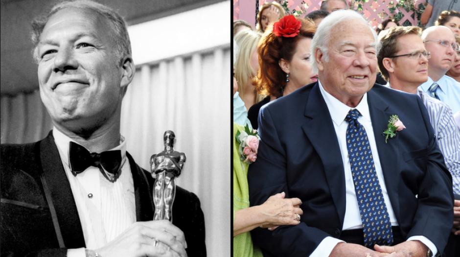 En esta foto del 10 de abril de 1968, George Kennedy posa con su Oscar. (Foto: hollywoodreporter.com)