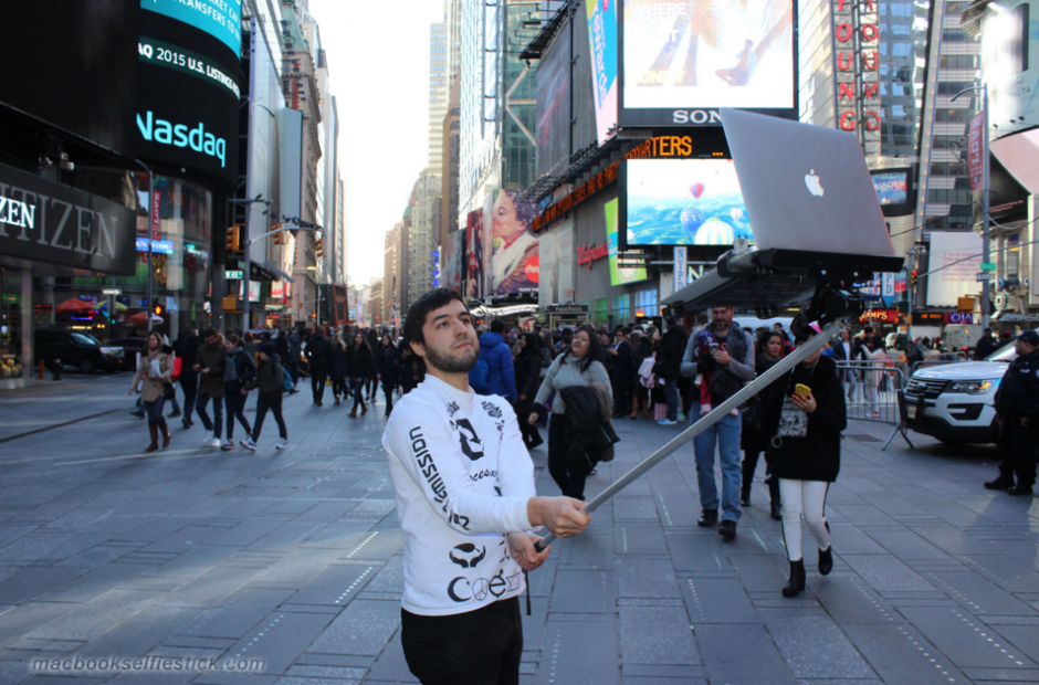 Los selfie stick son muy populares. (Foto: macbookselfiestick.com)