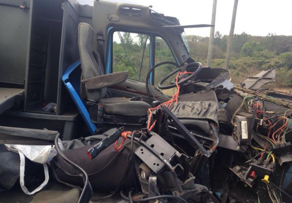 Del accidente se reportó un herido en la ruta a Jutiapa. (Foto: Santos Dalia/Tránsito PNC)