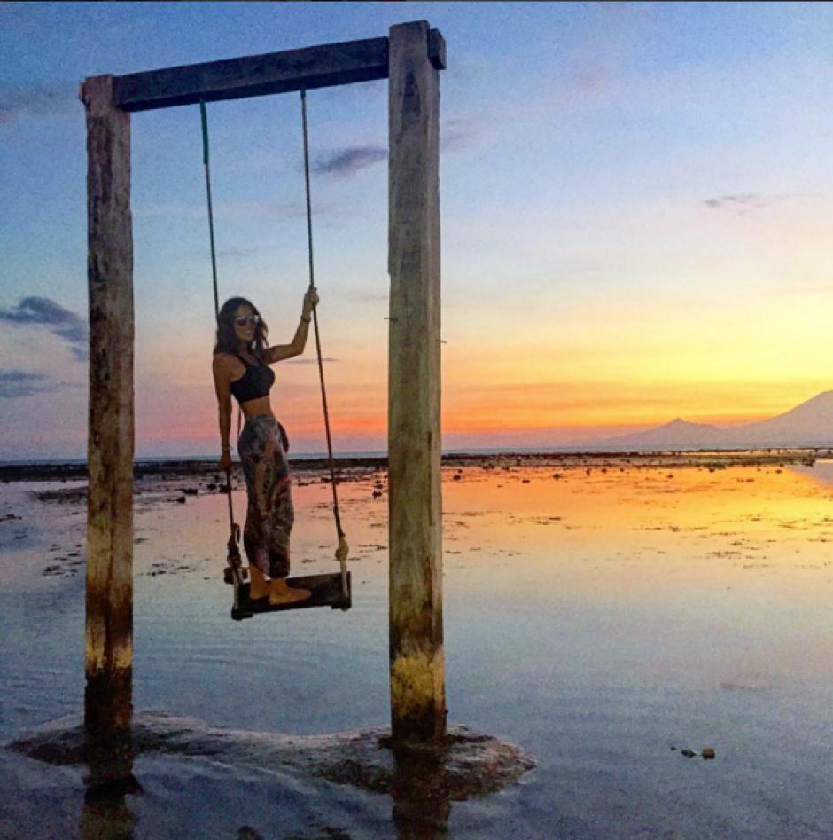 Las fotos en la playa son las fovoritas de Lorena. (Foto: Lorena González)