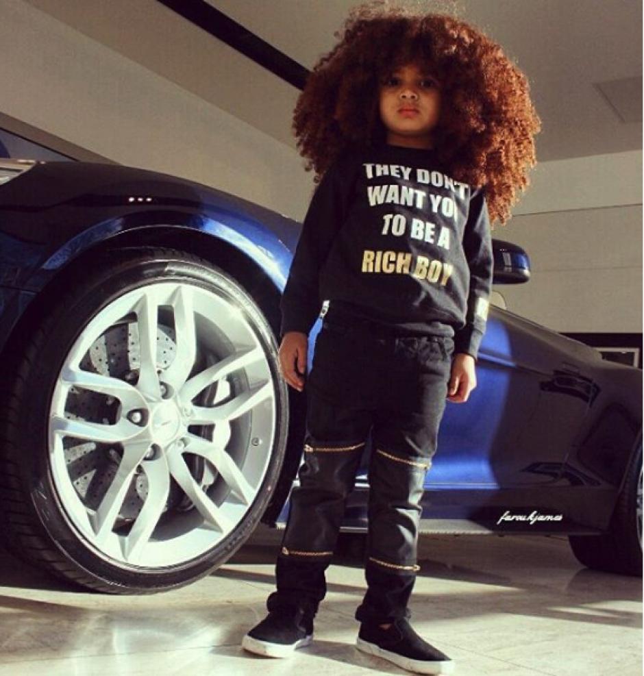 A sus cuatro años, el modelo ya ha desfilado en las pasarelas de moda. (Foto: @faroukjames)