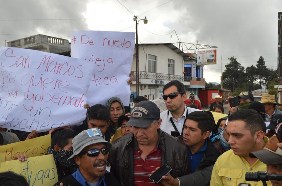 Juan Manuel Giordano el diputado tránsfuga no fue bien recibido en San Marcos. (Foto: Hugo Barrios/Nuestro Diario)