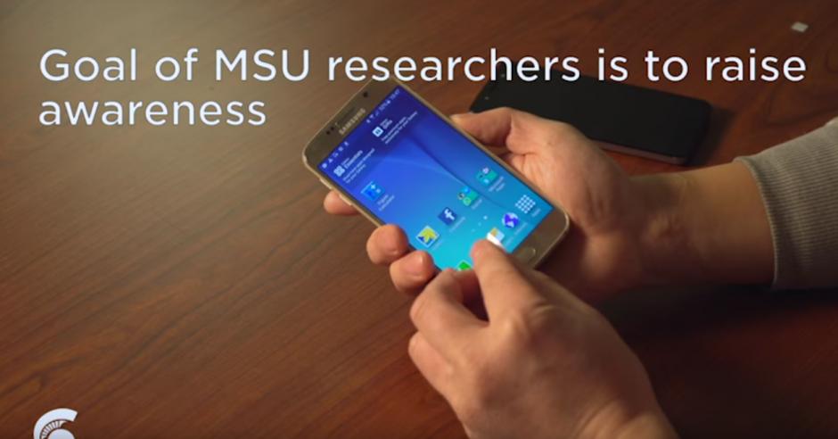 Con la plantilla ya elaborada se hace la prueba para desbloquear el dispositivo. (Imagen: Michigan State University)