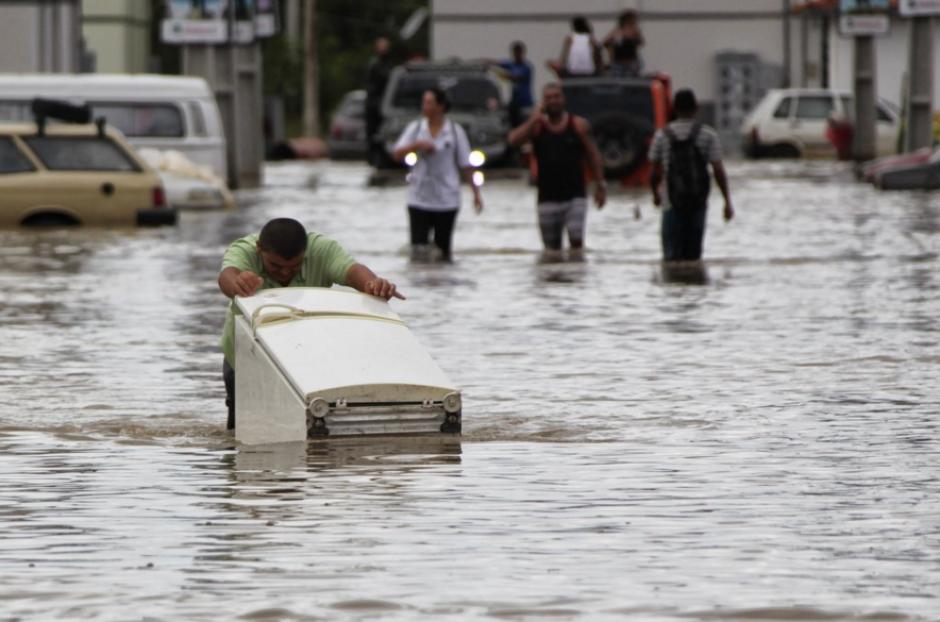 Un temporal de lluvia que azotó la región metropolitana de Sao Paulo. (Foto: Agencia Xinhua)