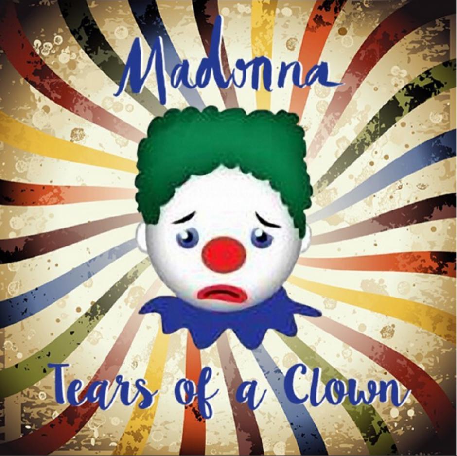 """Afiche del show denominado """"Tears of a clown"""" presentado durante el concierto. (Foto: Instagram/madonna)"""