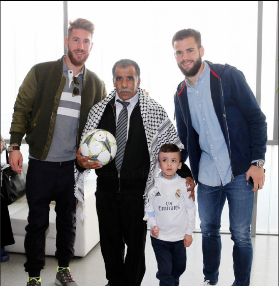 El pequeño Ahmad sufrió un atentado junto a su familia. (Foto: Real Madrid)
