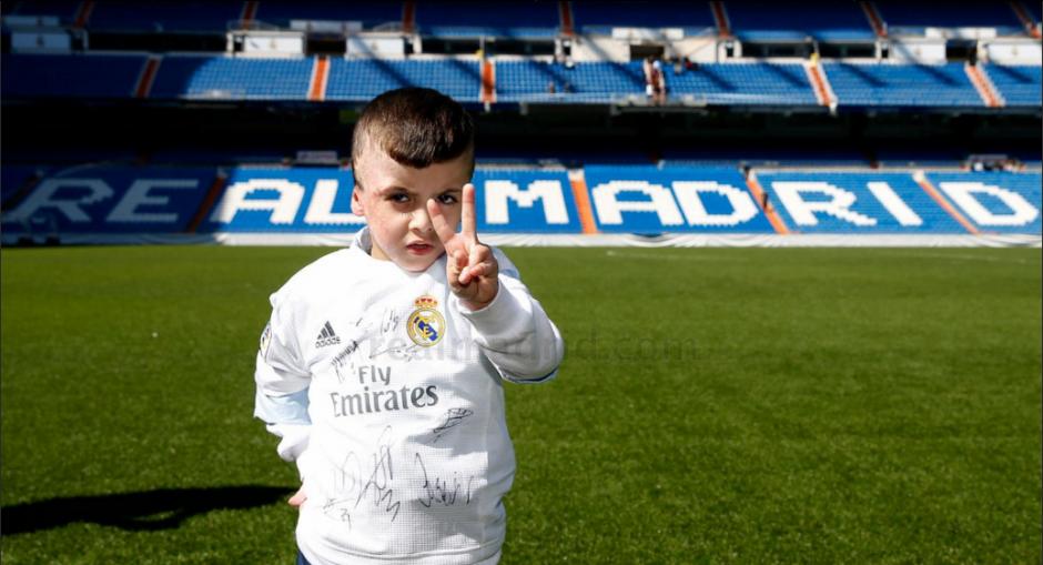 Ahmad tuvo el privilegio de pisar la cancha del Bernabéu. (Foto: Real Madrid)