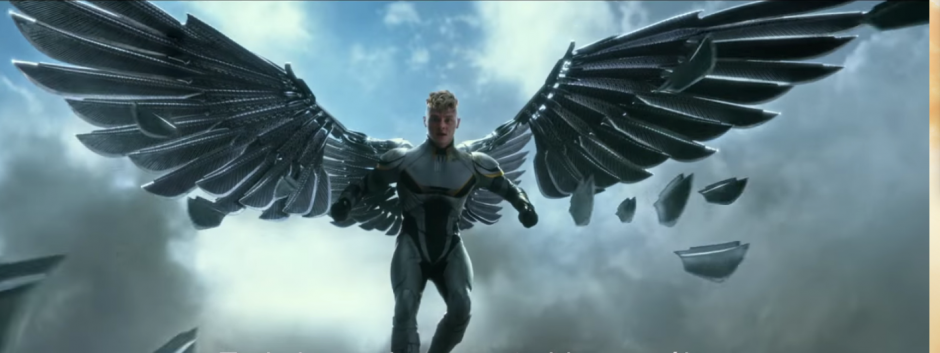 Ángel, otro mutante que forma parte del equipo de Apocalipsis. (Imagen: Captura de YouTube)