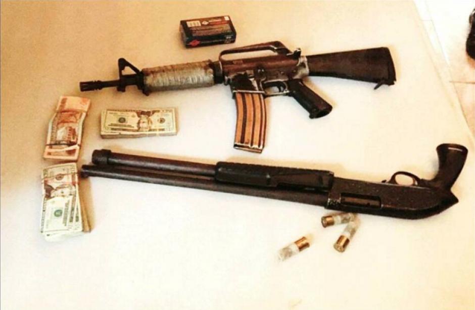 Además de las capturas, las autoridades decomisaron 6 armas de fuego. (Foto PNC)