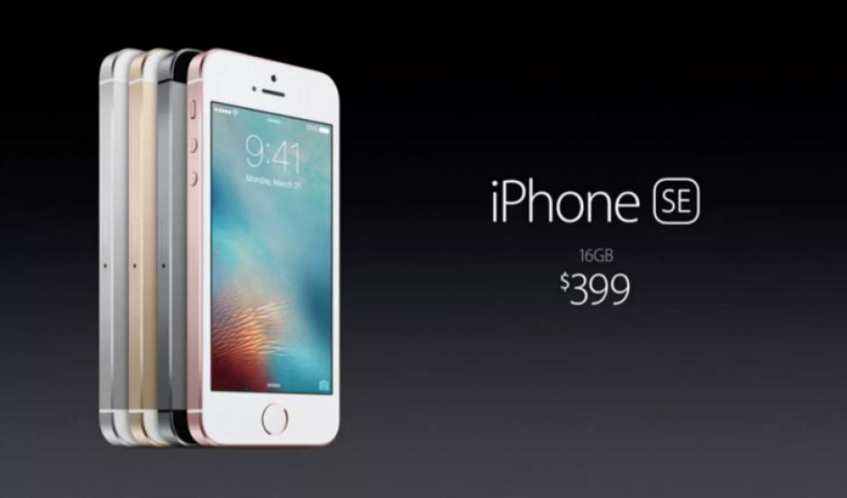 El precio del iPhone SE será de $399 en Estados Unidos. (Foto: sopitas.com)