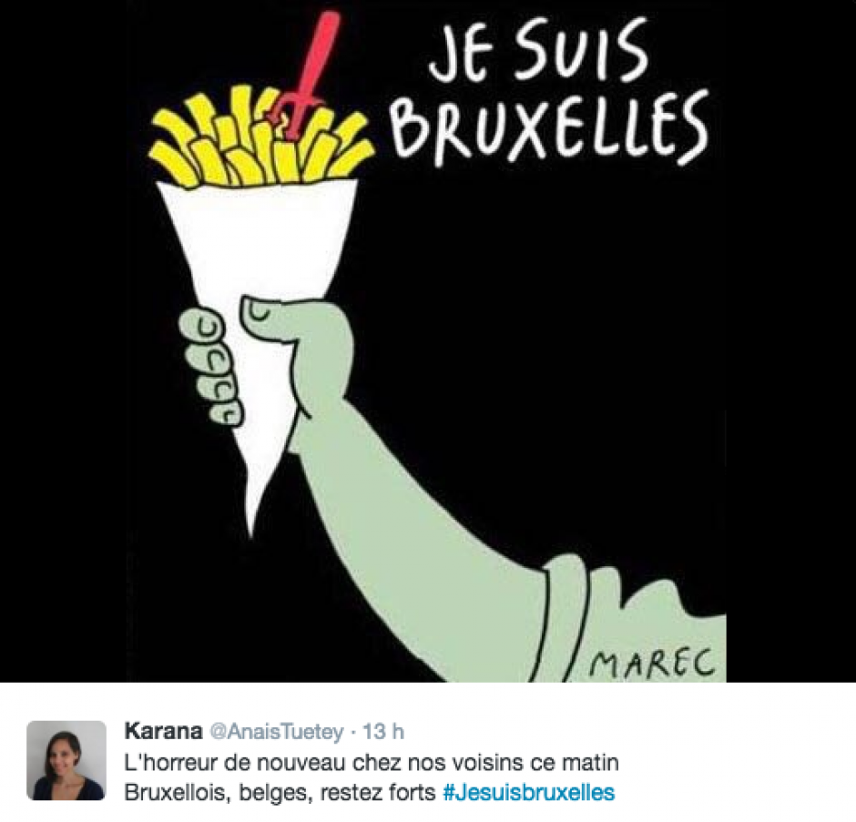 Las papas fritas son parte de la gastronomía de Bélgica. (Foto Twitter)