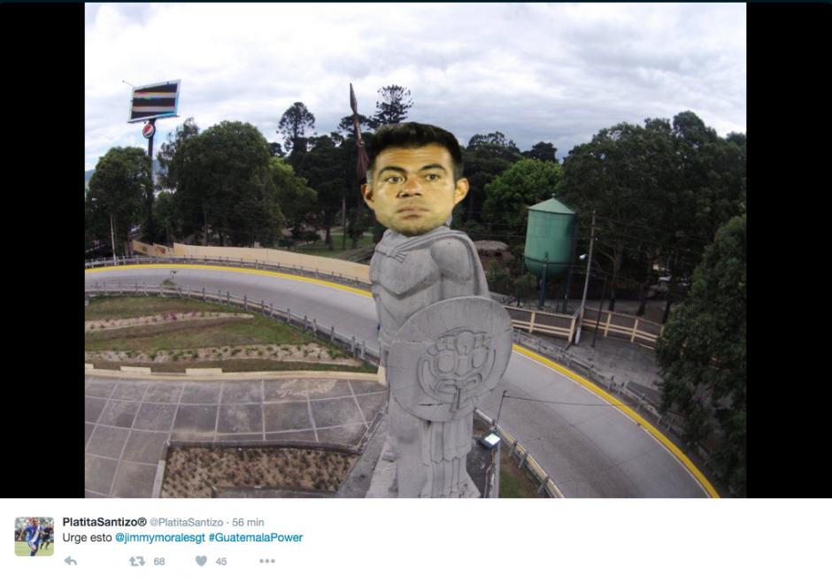 Algunos internautas proponen un cambio de estatua en el bulevar Liberación.