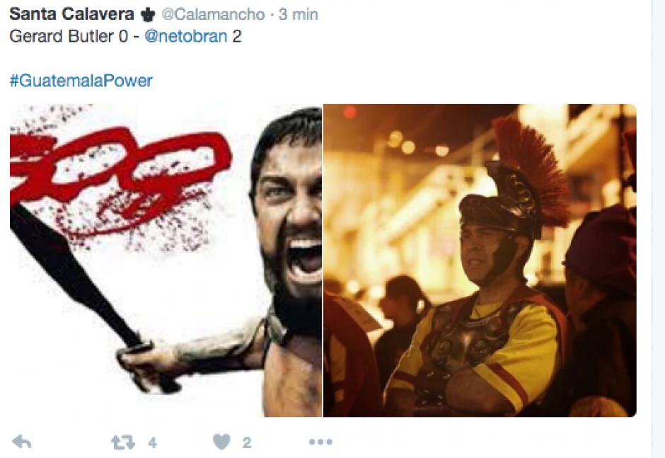 Hasta Netro Bran brilló en las redes sociales con la victoria de Guatemala.