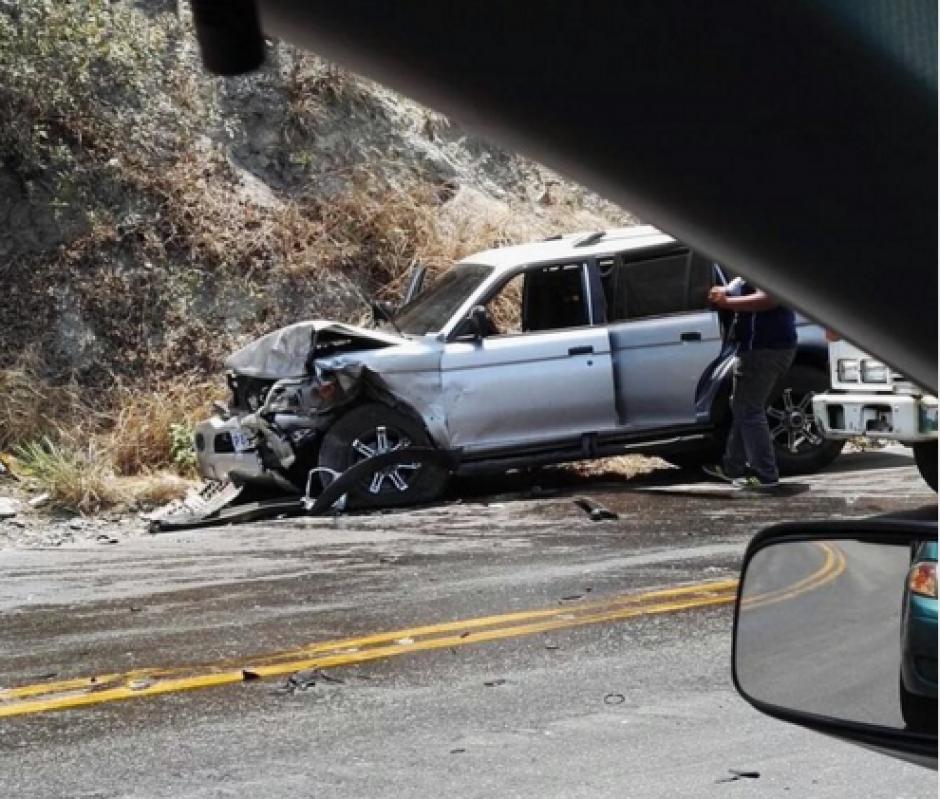 Este accidente ocurrió en Sanarate, El Progreso. (Foto: Tránsito PNC)