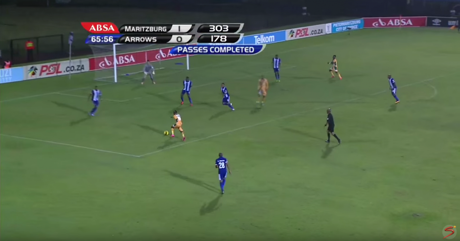 El partido entre Maritzburg United y el Golden Arrows. (Foto: SuperSport/ YouTube)