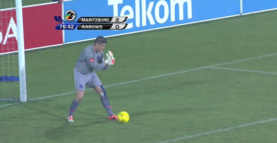 Glenn Verbauwhede, es el portero del equipo de Maritzburg United de Sudáfrica. (Foto: SuperSport/ YouTube)