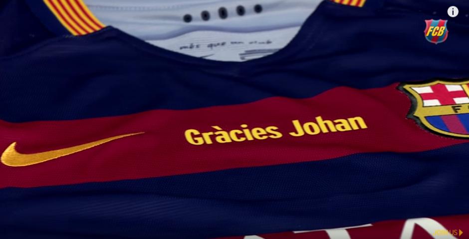 Barcelona homenaje en el clásico Cruyff  foto
