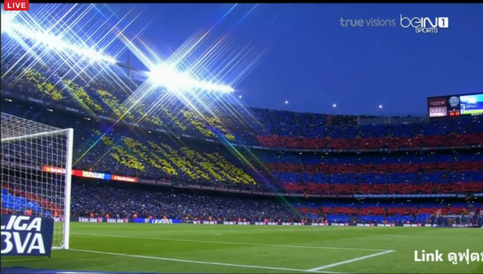 Esta es la panorámica del estadio Camp Nou. (Foto:BeinSports)