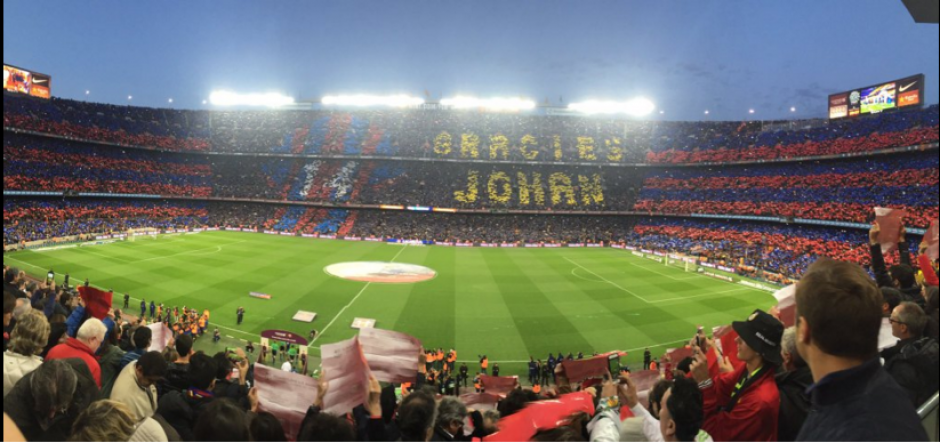 Así rindió homenaje el Barcelona a Johan Cruyff. (Foto: NationSoccer)
