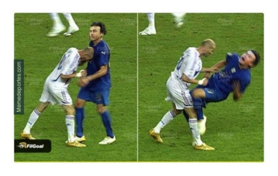 """La imagen de Zidane en un Mundial fue utilizada para """"los memes"""". (Foto: MemeDeportes.com)"""