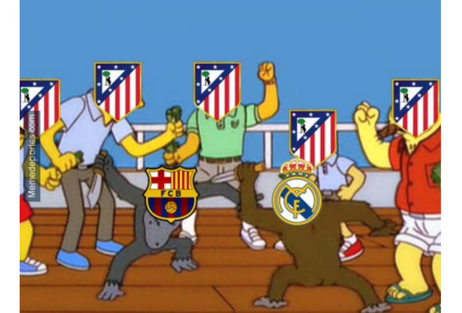 """Los aficionados del Atlético de Madrid fueron también parte de """"los memes"""". (Foto: MemeDeportes.com)"""