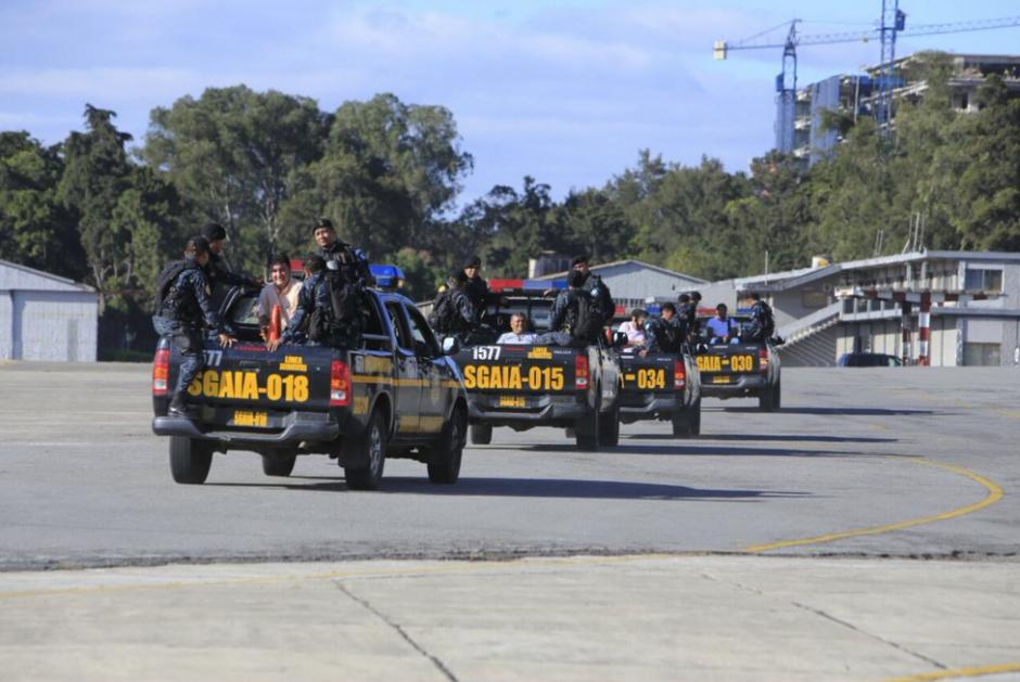 Los integrantes de la estructura criminal guardarán prisión preventiva en la Ciudad de Guatemala. (Foto: Mingob)