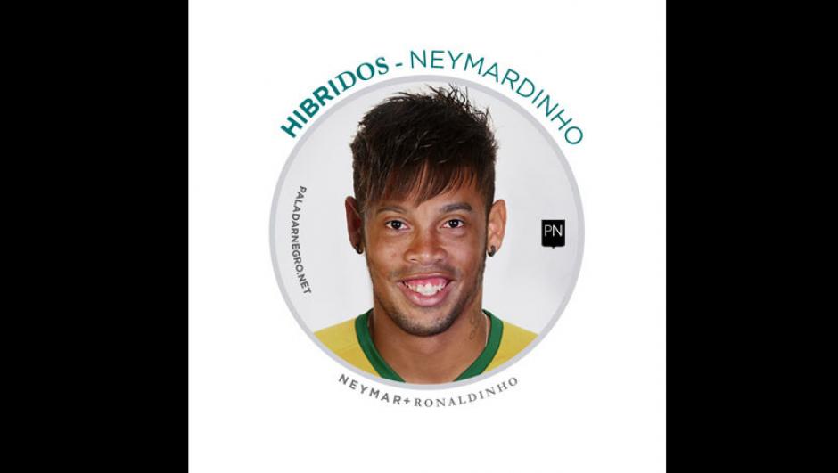 Neymar + Ronaldinho = Neymardinho. (Imagen: paladarnegro.net)