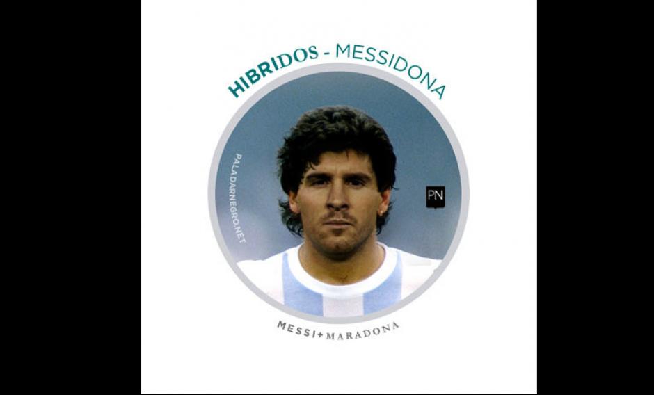 Messi + Maradona = Messidona. (Imagen: paladarnegro.net)