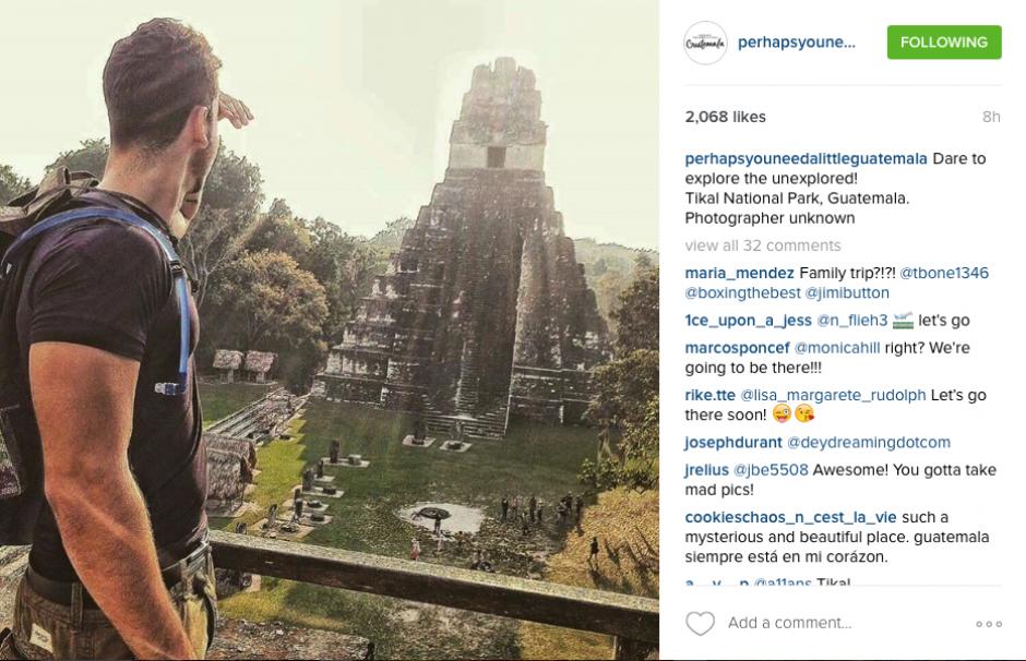 """""""Perhaps you need a little Guatemala"""" nos demuestra impresionantes imágenes de los encantadores sitios del país. (Captura Instagram Perhaps you need a little Guatemala)"""