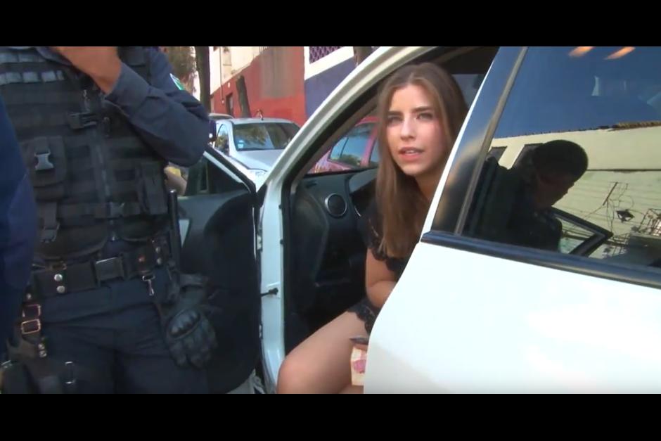 La joven es identificada como Lorena Daniela Aguirre. (Foto: Óscar Aguilar/YouTube)