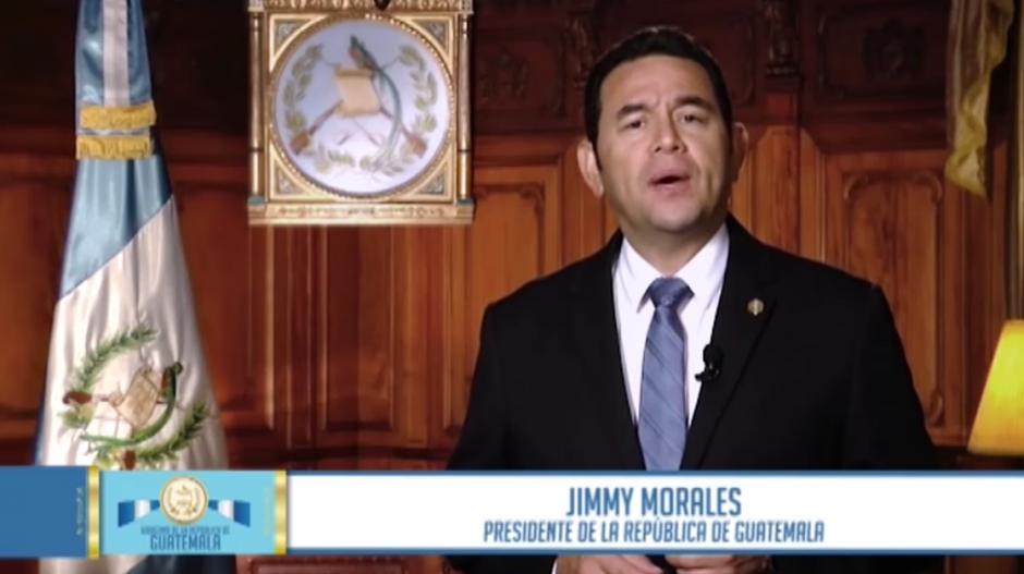 El presidente Jimmy Morales envió un mensaje televisado señalando sus logros a 100 días de Gobierno. (Foto: Archivo/Soy502)
