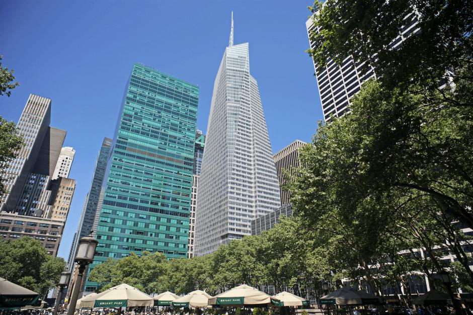 El edificio One Bryant Park es un ejemplo de una construcción ecoamigable. (Foto: Bank of America)