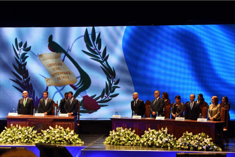 En el acto participaron los presidentes de los tres Poderes del Estado. (Foto: Jesús Alfonso/Soy502)
