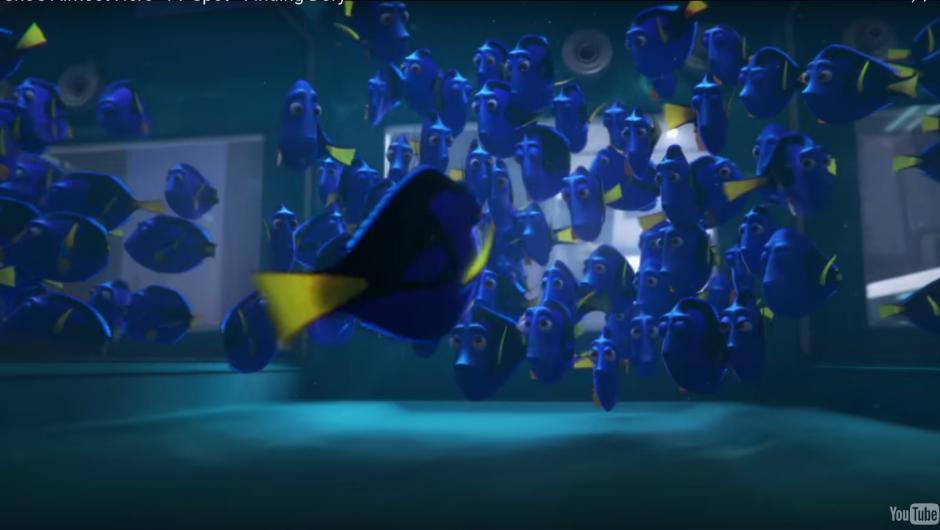 Dory encuentra a su familia en esta nueva aventura. (Imagen: Captura de YouTube)