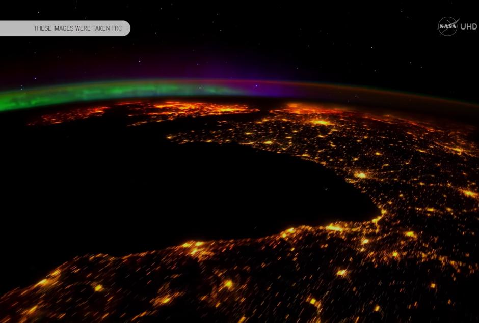 La aurora boreal es un hermoso espectáculo. (Captura de pantalla: NASA/YouTube)