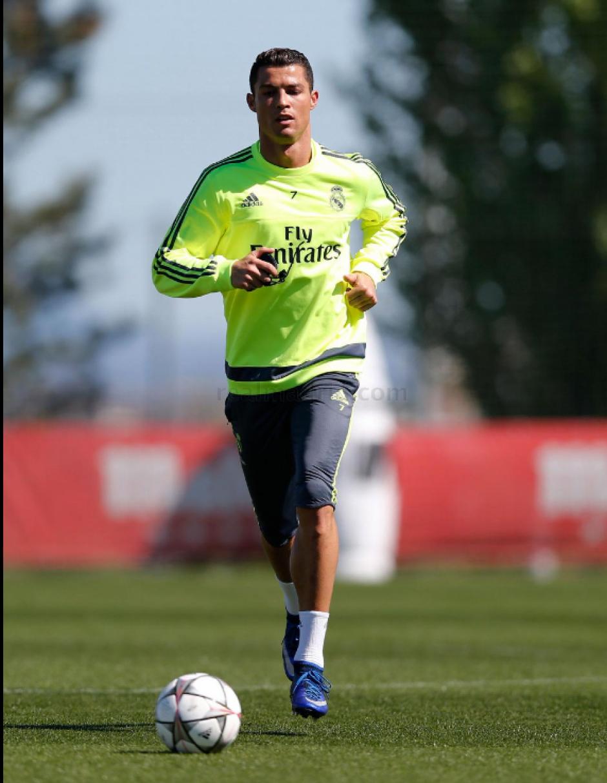 Cristiano culminó el entrenamiento el último domingo. (Foto: Real Madrid)