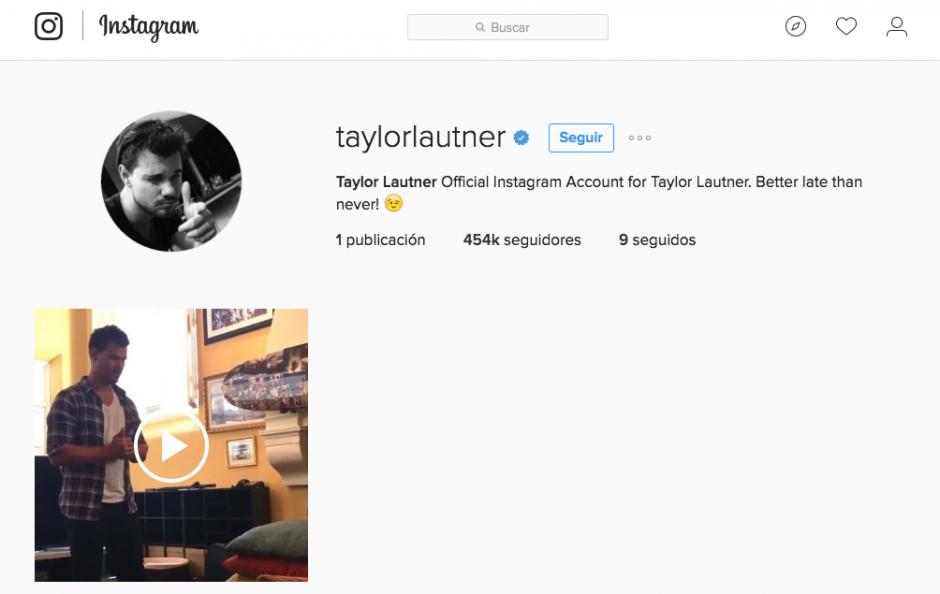 """En la descripción de su cuenta de Instagram el actor escribió """"más vale tarde que nunca"""". (Foto: Instagram)"""