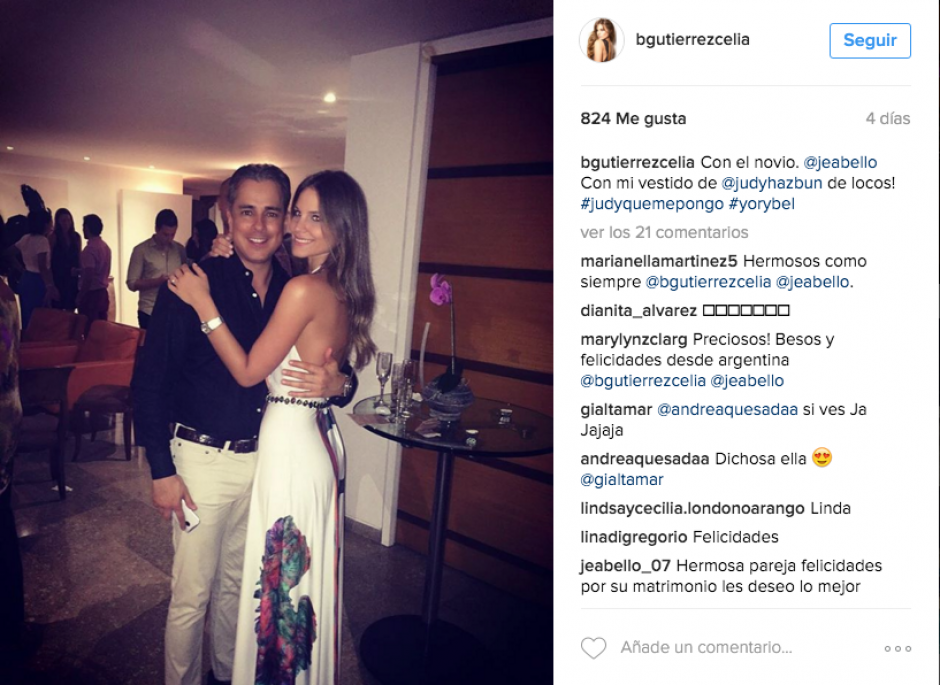 La pareja compartió algunas fotografías de su boda en Instagram. (Foto: Instagram Marisabel Gutiérrez)