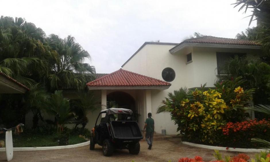 La casa de la exvicepresidenta Roxana Baldetti en Juan Gaviota, Marina del Sur, Escuintla, ha sido valorada en Q3 millones 882 mil. (Foto: MP)