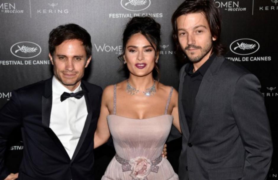 García, Hayek y Luna, fueron los representantes mexicanos más destacados en Cannes. (Foto: infobae.com)