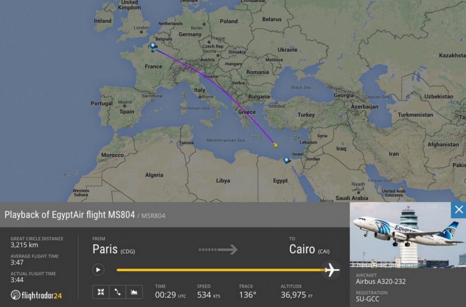 Esta es la ubicación del avión cuando desapareció de los radares. (Foto: @Flightradar24)